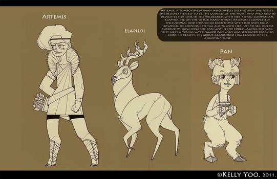 Greek Myth Character Design