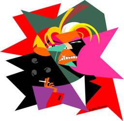 David Bowie - wpap by JohnKarnaras
