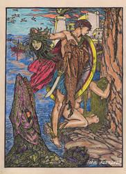 Perseus and Andromeda by JohnKarnaras
