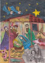 merry christmas by JohnKarnaras