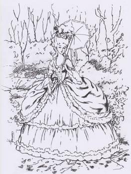 victorian fashion sketch