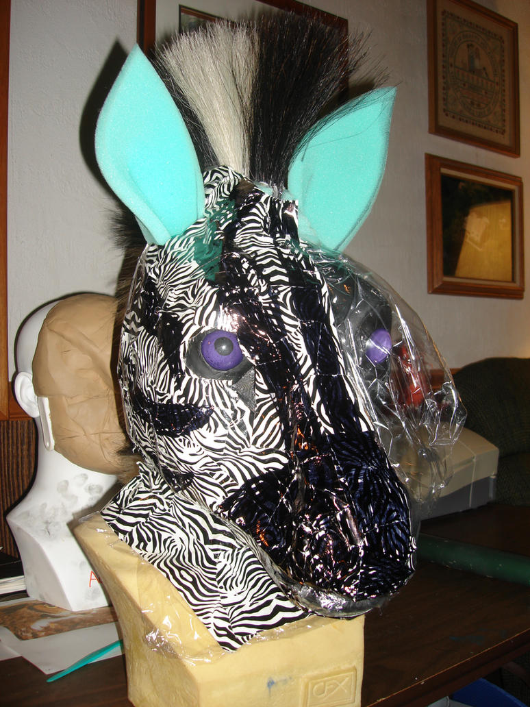 zebra head wip 2 by ShaggyGriffon