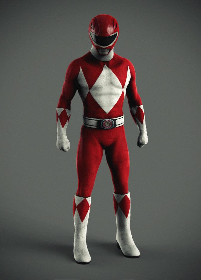 Red Power Ranger Face Cake