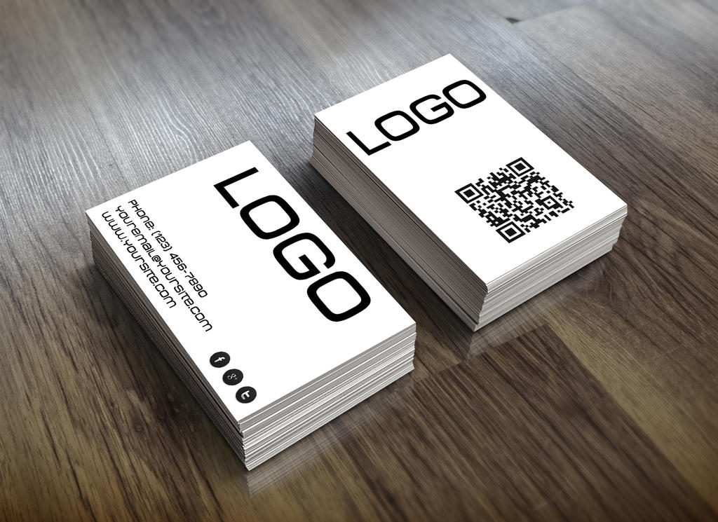 Simple black and white themed business card by jeffmcc1 on