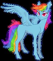 Rainbow horse by Leechetious