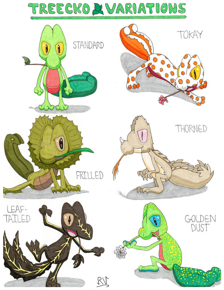 treecko variations uploaded with better quality by