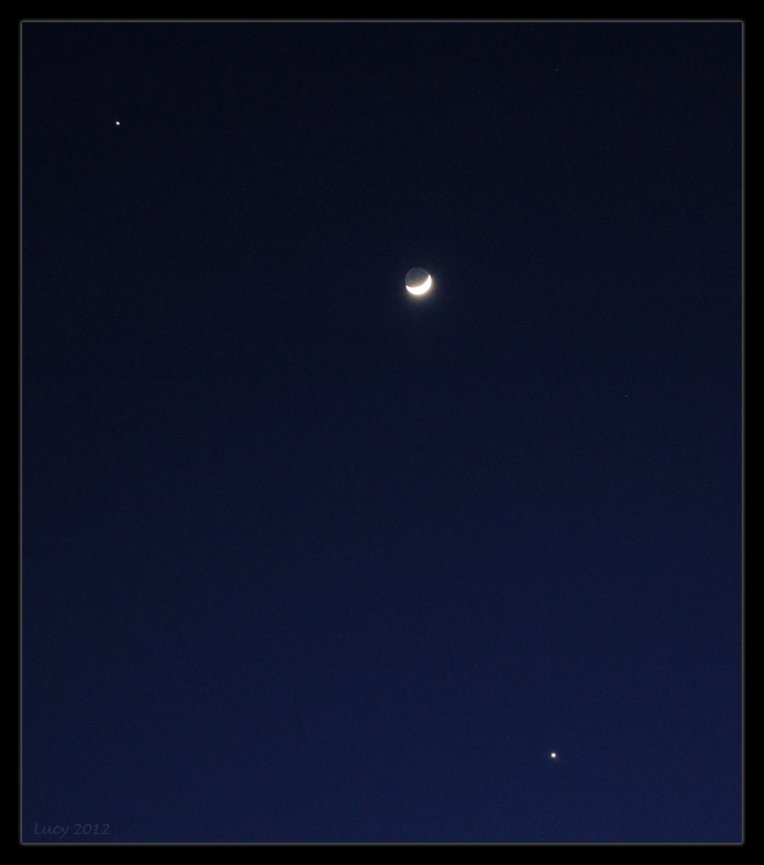 Moon with Venus and Jupiter by Loony-Lucy on DeviantArt