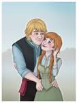 Kristoff+Anna in Summer