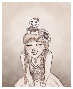 Anna with a Snowgie
