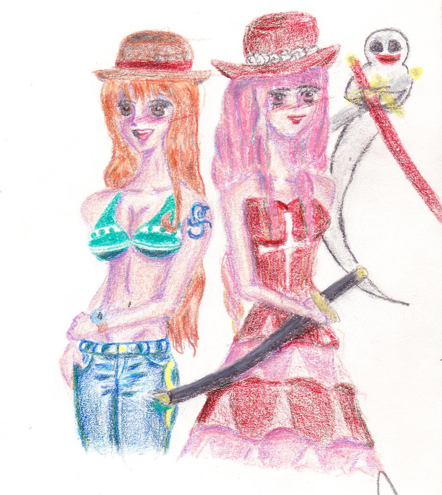 Nami and Perona by OtakuAshels