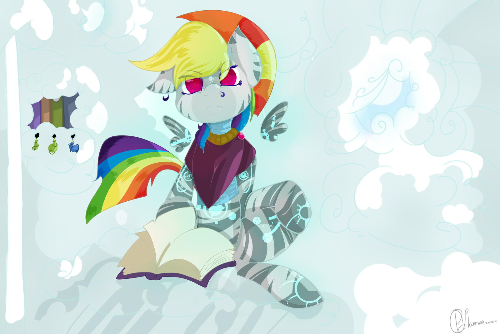 Zebra Rainbow Dash by LlamasWithKatanas