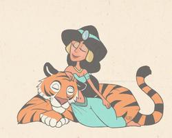 Jasmine and Rajah by KJB92