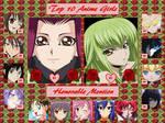 Top 10 Anime Girls