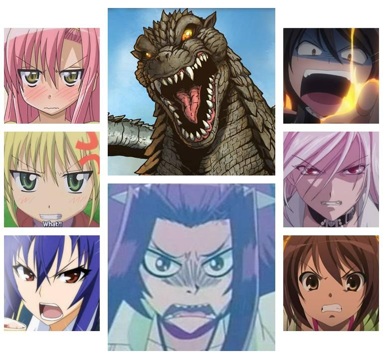 Anime 2014: Anime Girls And Godzilla By Artdog22 On DeviantArt