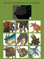 Top Ten Godzilla the Series Villains by artdog22
