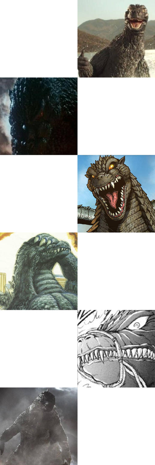 godzilla reaction meme blank by artdog22 on deviantart. Black Bedroom Furniture Sets. Home Design Ideas