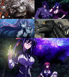 Godzilla meets Rias and her Peerage