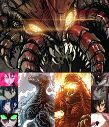 Godzilla and Heroes Against Magita