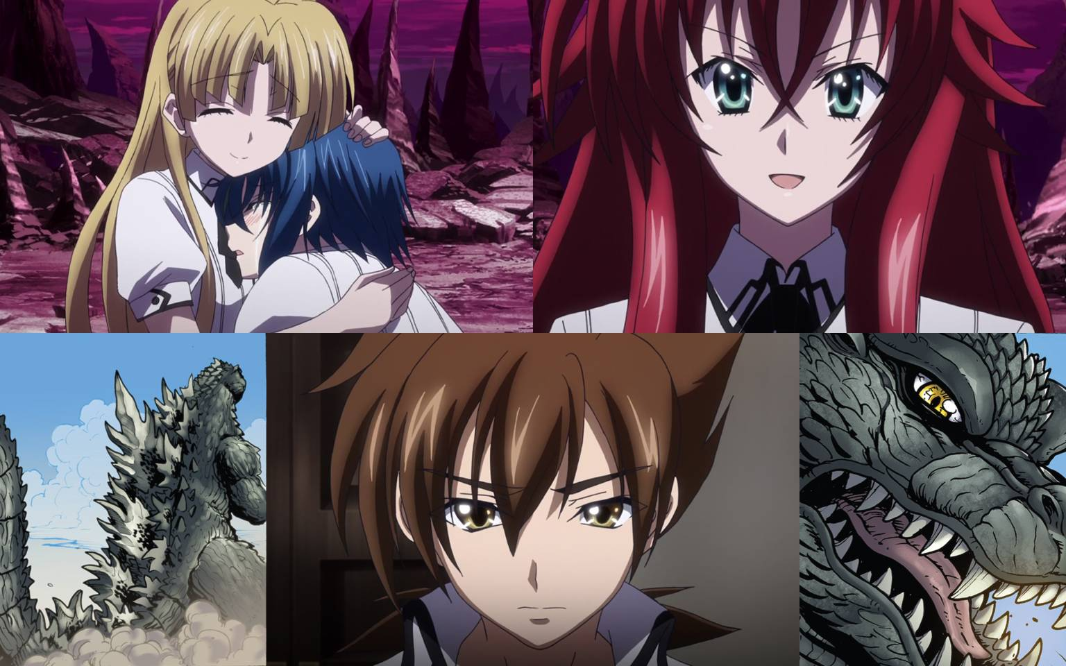Anime Characters React Fanfiction : Asia saved and godzilla forgives issei by artdog on