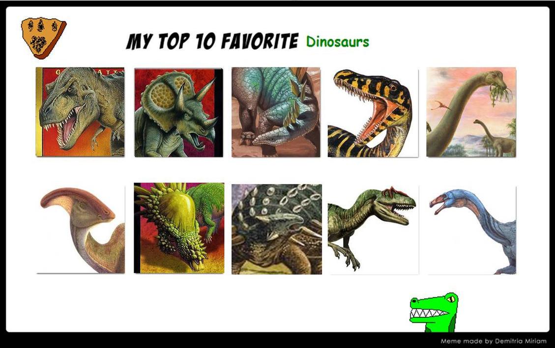 2 two favorite dinosaurs