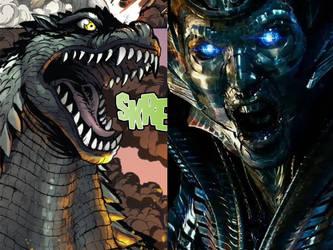 Godzilla faces Quintessa