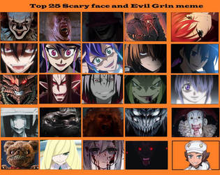 Top 25 Scary Face and Evil Grins 2