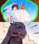 Godzilla confused on Kurumi's marriage