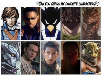 Guess my Favorite Heroes by artdog22