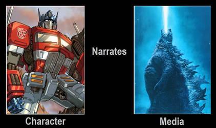 Optimus Prime Narrates Godzilla by artdog22