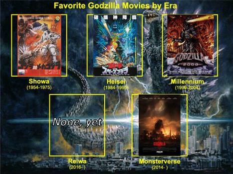 Favorite Godzilla Movies by Era
