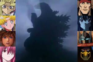 Characters reacting to Godzilla Jr.'s Revival