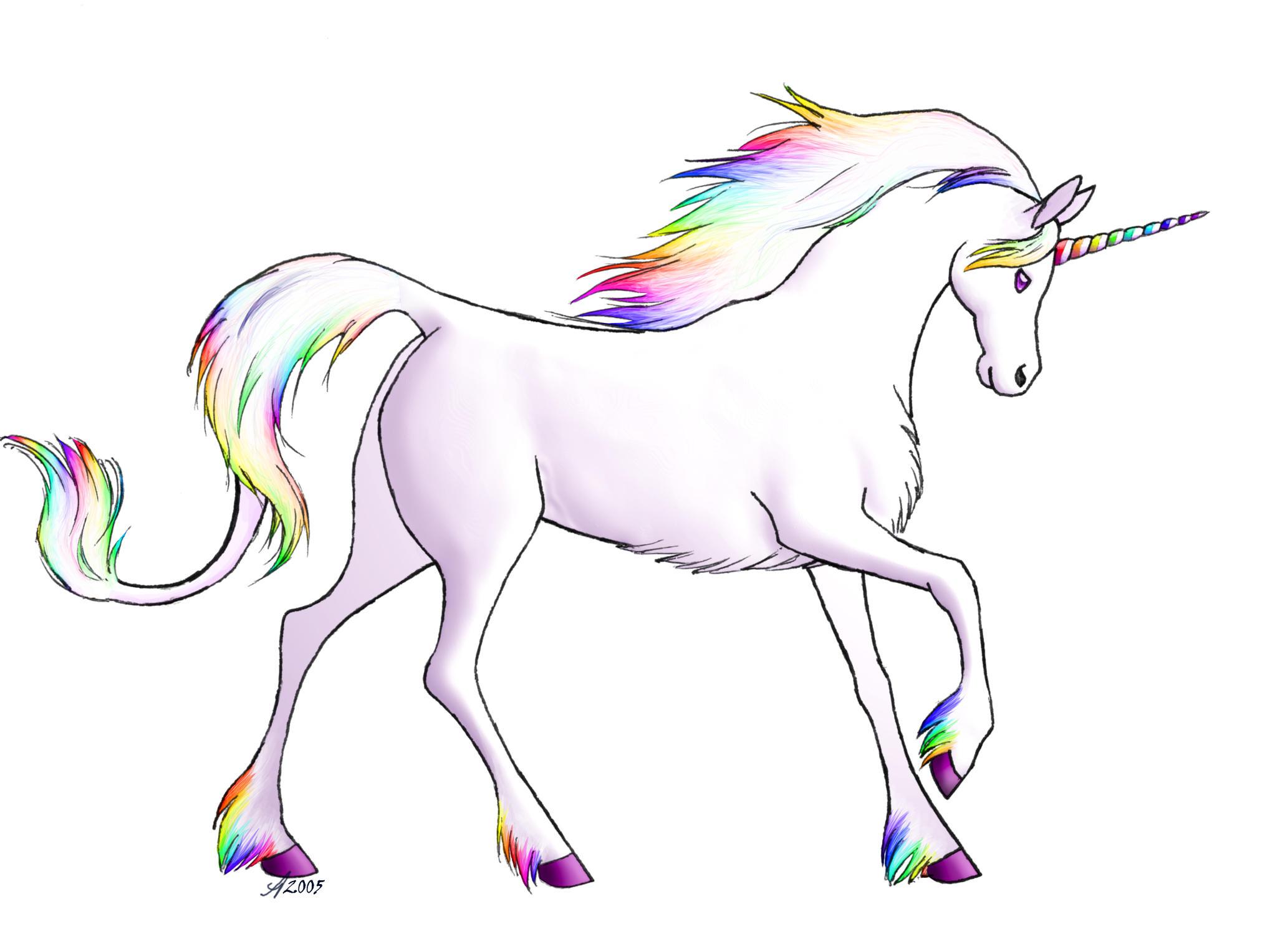 rainbow unicorn clipart - photo #7