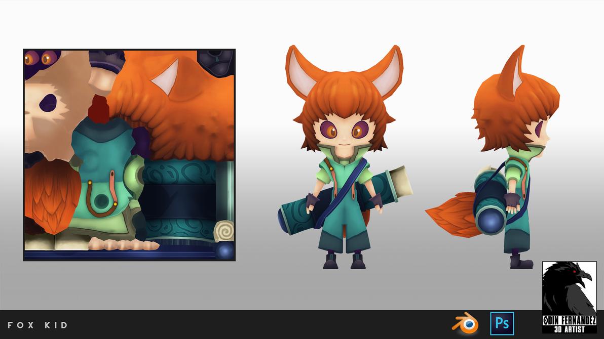 Fox Kid by Odin3D