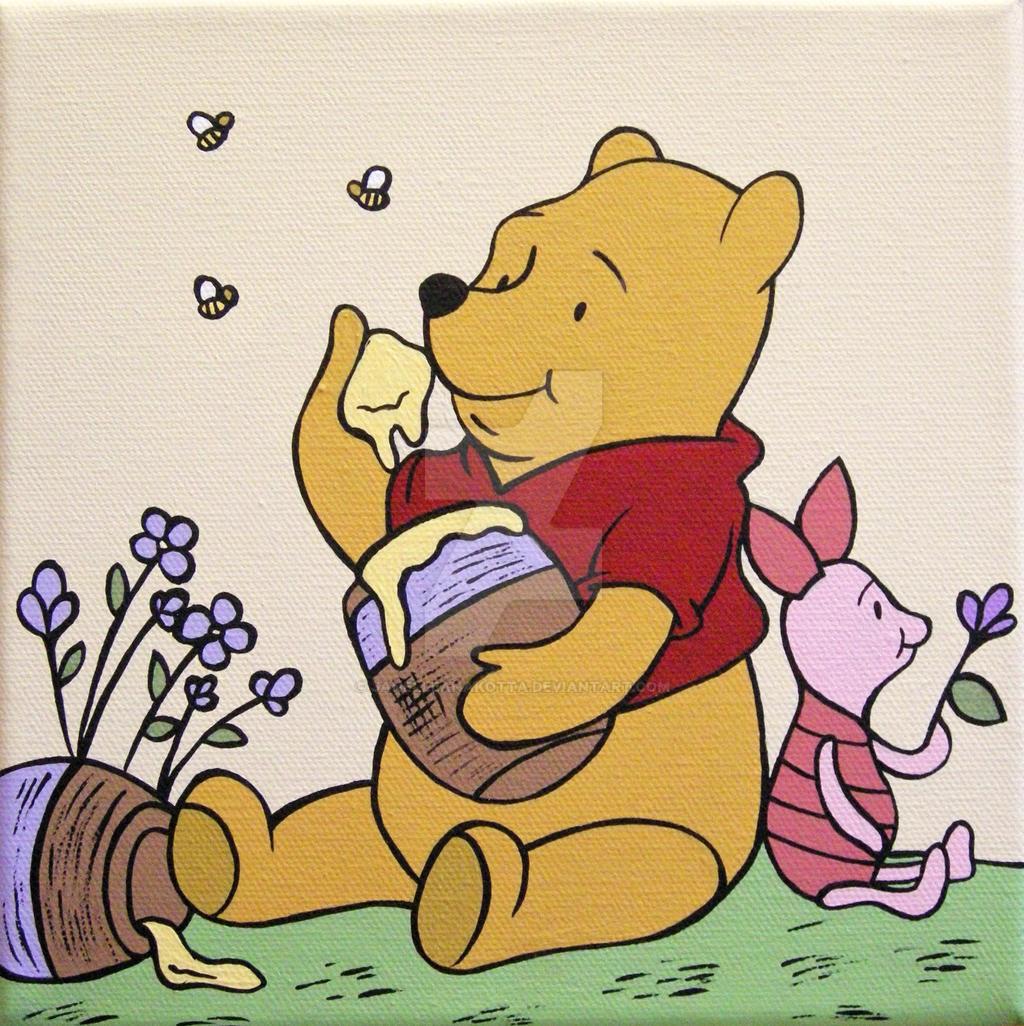 Winnie the Pooh and Piglet by janelleanakotta on DeviantArt