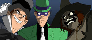 Riddler Scarecrow Mad Hatter by March90