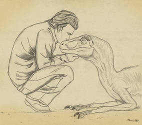 Richard Levine and Velociraptor by March90