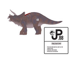 Jurassic Park Triceratops Action Figure by March90