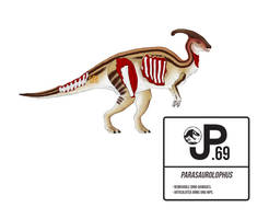 The Lost World Parasaurolophus Action Figure