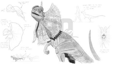 Jurassic Park Dilophosaurus 'Spitter' Studies