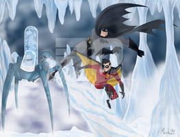Batman and Robin vs Mr. Freeze