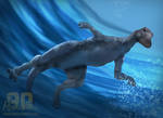 Swimming Anatosaurus