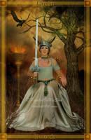 Queen of Swords by PaintedOnMySoul