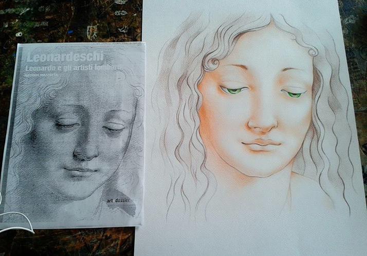 Leonardo da Vinci's sketch by Auphelith