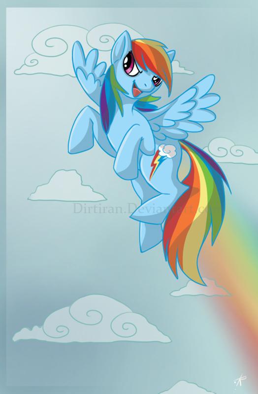 Rainbow Dash by Key-Feathers