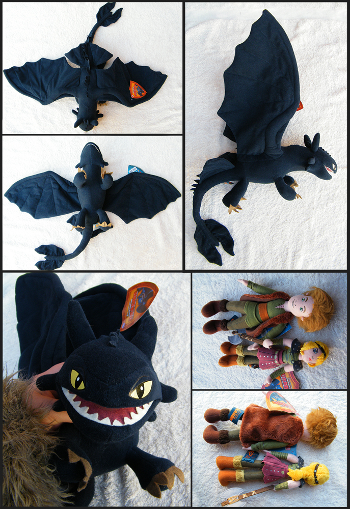 Rare HTTYD Plush set FOR SALE by Key-Feathers