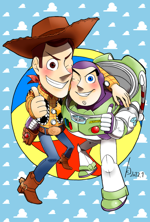 woody and buzz by greenkco on deviantart