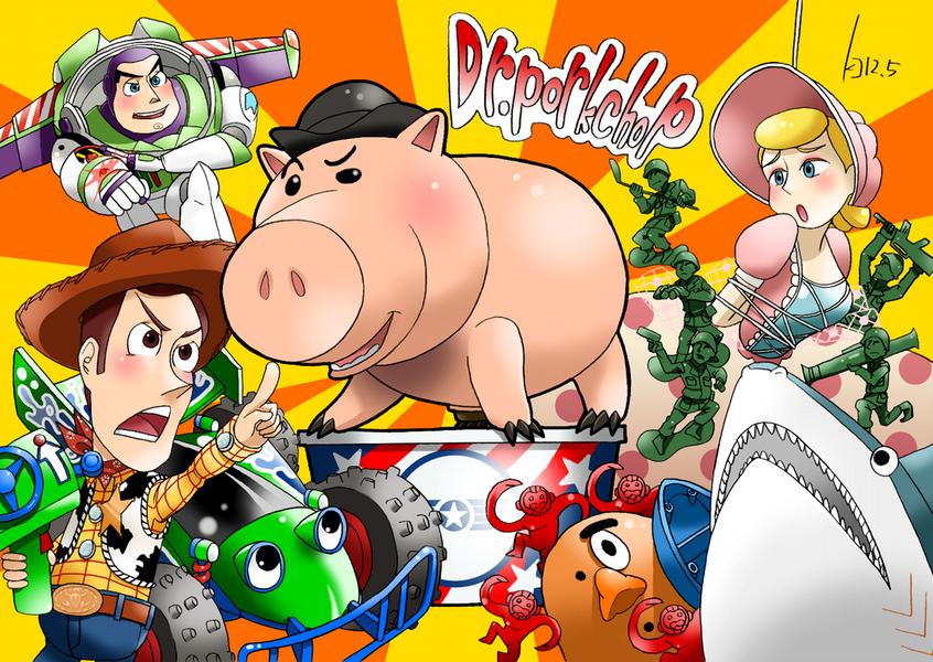 WoodyTeamVS Dr.porkchop! by Green-Kco