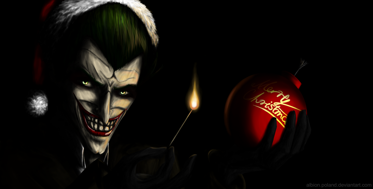 Joker celebrates Christmas... (contest entry) by Albion-Poland on ...