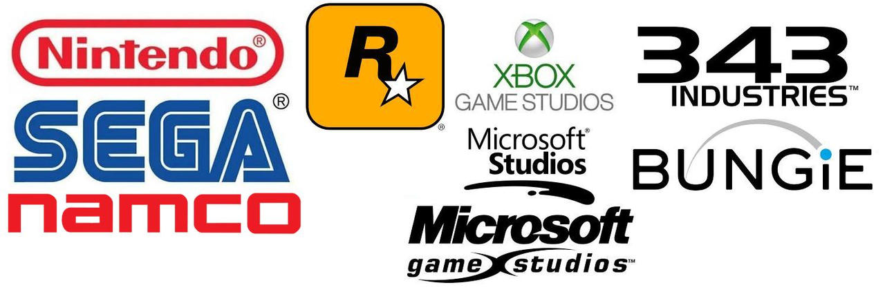 The Logos Of Video Game Companies by TheAgentmanMMT on