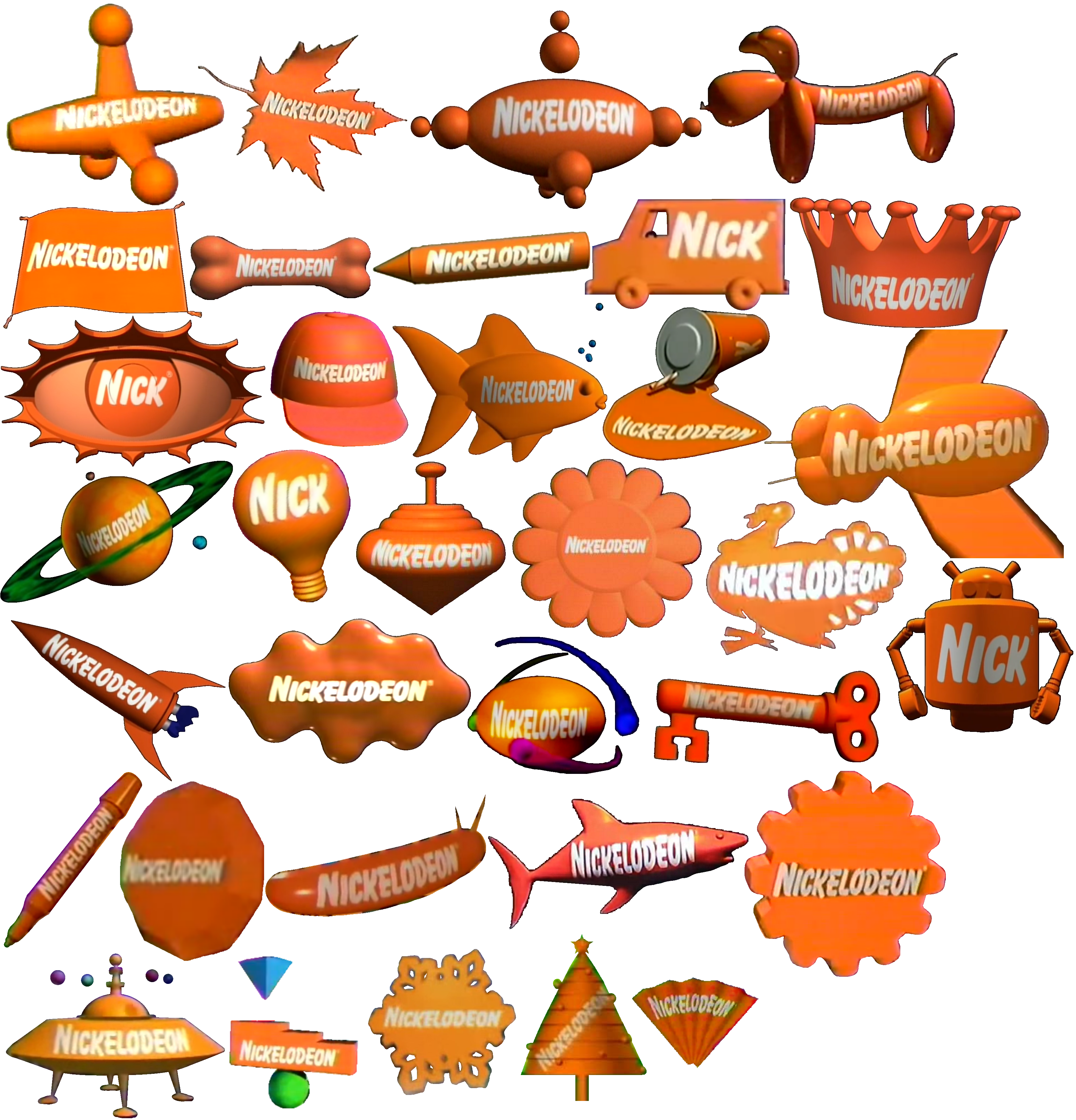 Nickelodeon 3d Logos 1993 2010 By Lukesamsthesecond On Deviantart